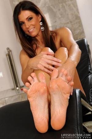 Beautiful brunettes give foot jobs, suck - XXX Dessert - Picture 6