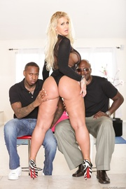 tattooed blonde black takes