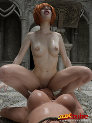 Blonde, redhead babes get into a hot lesbian sex in - Picture 8