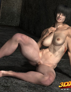 Beefy brunette broadcasts her bodacious body in a bevy of unbelievable