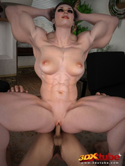 Big, muscular girl gets fucked by a smaller dude on - Picture 9