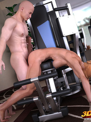 Blonde lady pauses exercising to suck and fuck her - Picture 8