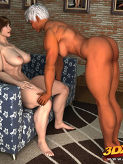 Muscular black girl fists a horny white babe's hungry - Picture 1