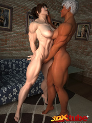Muscular black girl fists a horny white babe's hungry - Picture 3