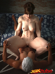 Muscular black girl fists a horny white babe's hungry - Picture 7