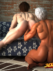 Muscular black girl fists a horny white babe's hungry - Picture 8