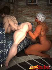 Muscular black girl fists a horny white babe's hungry - Picture 9