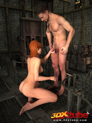 Redhead vigilante sucks dick and gets her pussy - Picture 3