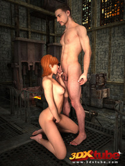 Redhead vigilante sucks dick and gets her pussy - Picture 7
