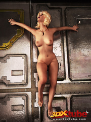 Black and blonde girl spreads legs to expose plump - Picture 8
