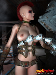 Punk rebel reveals big boobs and gets fucked by a - Picture 2