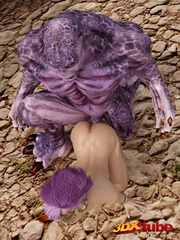 Purple-haired steampunk babe is fucked by hung purple - Picture 6