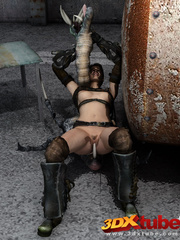 Raider babe is fucked in the pussy by a scary - Picture 8