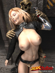 Busty blonde android is fucked on the floor by a - Picture 1