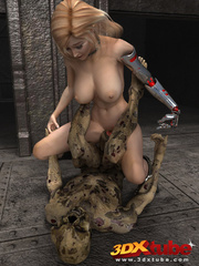Busty blonde android is fucked on the floor by a - Picture 7