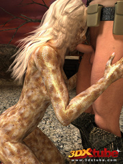 Scaly blonde girl does a hot 69 with a hung soldier - Picture 1