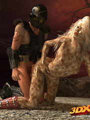 Scaly blonde girl does a hot 69 with a hung soldier - Picture 4