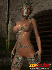 Scaly monster transforms into a sexy busty babe - Picture 4