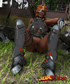 Black lady soldier pleasures her horny box using her gun!
