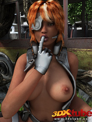 Black lady soldier pleasures her horny box using her - Picture 4