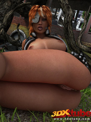 Black lady soldier pleasures her horny box using her - Picture 8