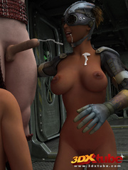 Masked stud fucks two ladies with very big boobs on - Picture 9
