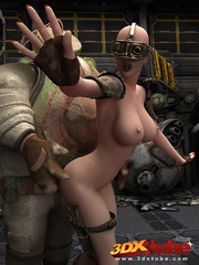 Busty post-apocalyptic babe gets kneels as she is - Picture 8