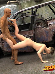 Post-apocalyptic babe have sex with exotic dude in - Picture 7