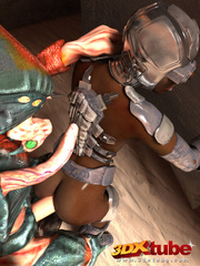 Black android girl is pleasured and fucked by a weird - Picture 7