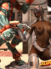Black android girl is pleasured and fucked by a weird - Picture 9