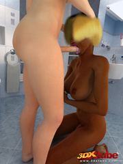 Black and white trannies enjoy sucking and fucking in - Picture 4