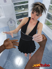 Edgy shemale's forced to suck and fuck a black dude - Picture 1