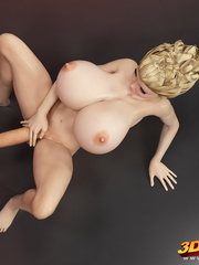 Stunning blonde shemale with huge boobs and cock - Picture 4