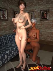Black shemale fucks a white tranny in their secret - Picture 2