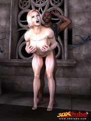 Horny muscular blonde prisoner sucks and fucks - Picture 9