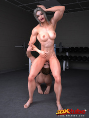 Two gym babes have hot sex after a session at the - Picture 5
