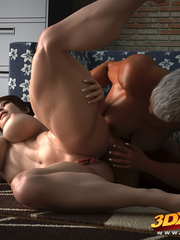 Muscled black girl fists a horny brunette's pussy on - Picture 5