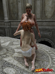 Two lesbians with huge boobs finger each other's - Picture 4