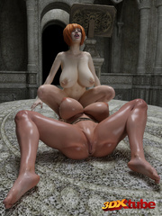 Two lesbians with huge boobs finger each other's - Picture 5