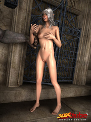 Elf beauty gets naked, sucks and fucks a huge scary - Picture 4