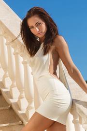 babe sexy white dress