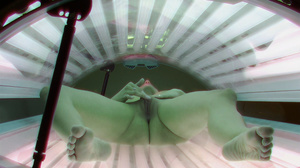 Busty ash blonde slowly stimulates her muff in solarium - XXXonXXX - Pic 9