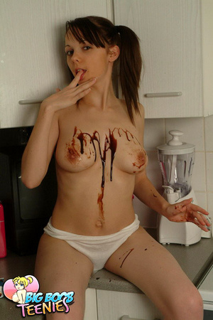 Sweet fresh brunette in white panties sp - XXX Dessert - Picture 7