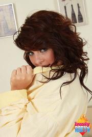 lovely redhead yellow robe