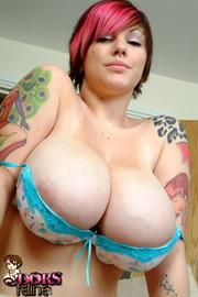 tasty tattooed chick blue