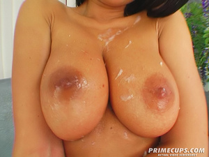 Brunette girl with huge tits deepthroats - XXX Dessert - Picture 16