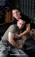 Gorgeous army dudes with stud bodies in black and in green shirts and