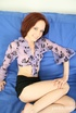 Petite redhead chick is here to tease her shaved…