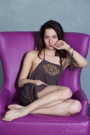 skinny white brunette purple