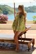 Sweet slim blonde honey strips as she enjoys the tropical sun on an island